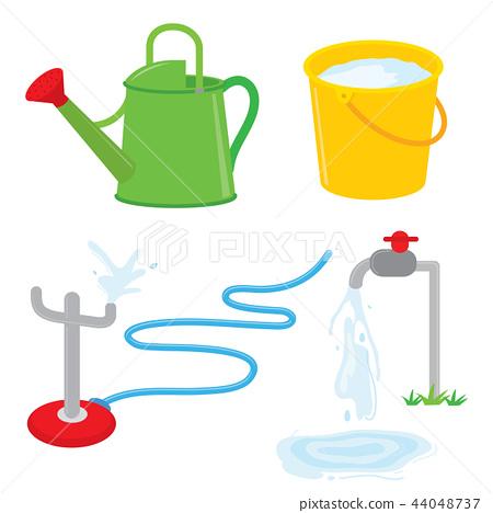 Gardening equipment watering water sprinkle vector 44048737