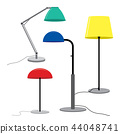 Set of lamps Furniture floor lamps Vector 44048741