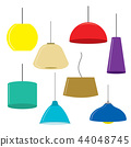 Set of lamps Furniture Ceiling lamps Vector 44048745