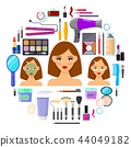 tools for makeup and beauty on white background 44049182