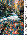wild river Doubrava, autumn landscape 44050122