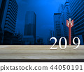 Business strategy happy new year 2019 concept 44050191