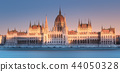 Parliament building and river Danube of Budapest 44050328