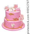 Cake for a girl on a baptismal feast. Epiphany 44052797