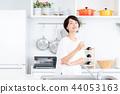 여성, 여자, 주방 44053163