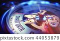 Smart Data - Wording on Vintage Watch. 3D Render. 44053879