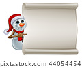 Snowman In Santa Hat Christmas Sign 44054454