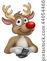 Reindeer Christmas Cartoon Character 44054466