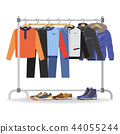 Clothes hanger with casual man clothes, footwear 44055244