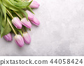 Bouquet of pink tulips 44058424