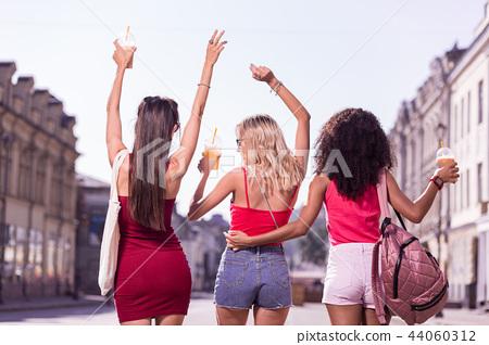 Joyful positive women being in a great mood 44060312
