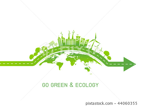 Green city on earth for Go green and Ecology 44060355