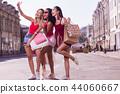 Happy joyful women posing for a selfie 44060667