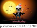 halloween night full moon party fancy vector 44061700