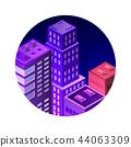 vector isometric city 44063309