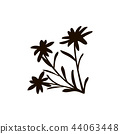 The Alps flat icon. edelweiss flower 44063448