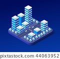 Isometric ultraviolet city 44063952