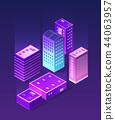 Isometric ultraviolet city 44063957