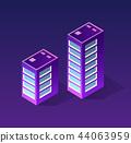 Isometric ultraviolet city 44063959