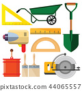 vector illustration set isolated icons building  44065557