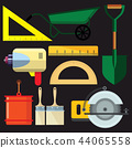 vector illustration set isolated icons building  44065558