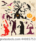 Happy Halloween Magic collection,Hand drawn vector 44065753