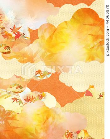總和 - 背景 - 日本紙 - 秋天 - 秋天的顏色 - 金色 44066870