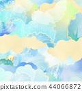 일본 - 배경 - 종이 - 여름 - 단풍 - 블루 44066872
