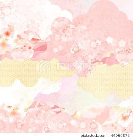 일본 - 배경 - 종이 - 봄 - 벚꽃 - 핑크 44066878
