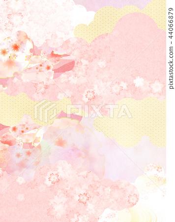總和 - 背景 - 日本紙 - 春天 - 櫻花 - 粉紅 44066879