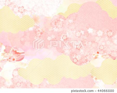 總和 - 背景 - 日本紙 - 春天 - 櫻花 - 粉紅 44066880