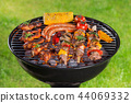 Barbecue grill with tasty meat, close-up. 44069332