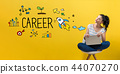 Career with woman using a laptop 44070270