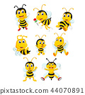 the collection of the yellow bee  44070891