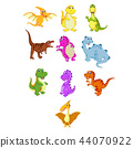 the collection of the little dinosaur  44070922