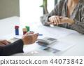 비즈니스 현장, 비즈니스 장면, 서명 44073842