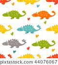 pattern, dino, seamless 44076067