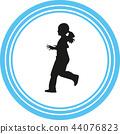 runner silhouette vector 44076823