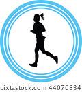 runner silhouette vector 44076834