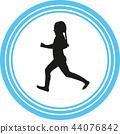 runner silhouette vector 44076842