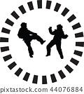 taekwondo, children, silhouette 44076884