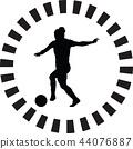 soccer women silhouette. girl player vector 44076887