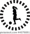 soccer women silhouette. girl player vector 44076891