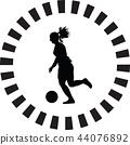 soccer, girl, player 44076892