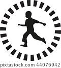 runner silhouette vector 44076942