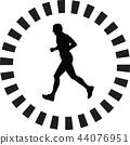 runner silhouette vector 44076951
