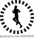 runner silhouette vector 44076956