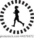 runner silhouette vector 44076972