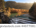 Lechfall waterfall and autumn forest 44077081