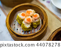 Chinese Cantonese dimsum meal in bamboo steamer 44078278